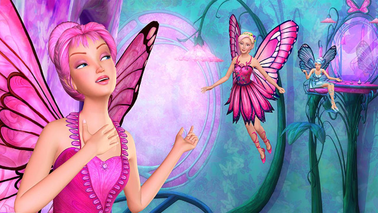 Картинки барби и бабочек