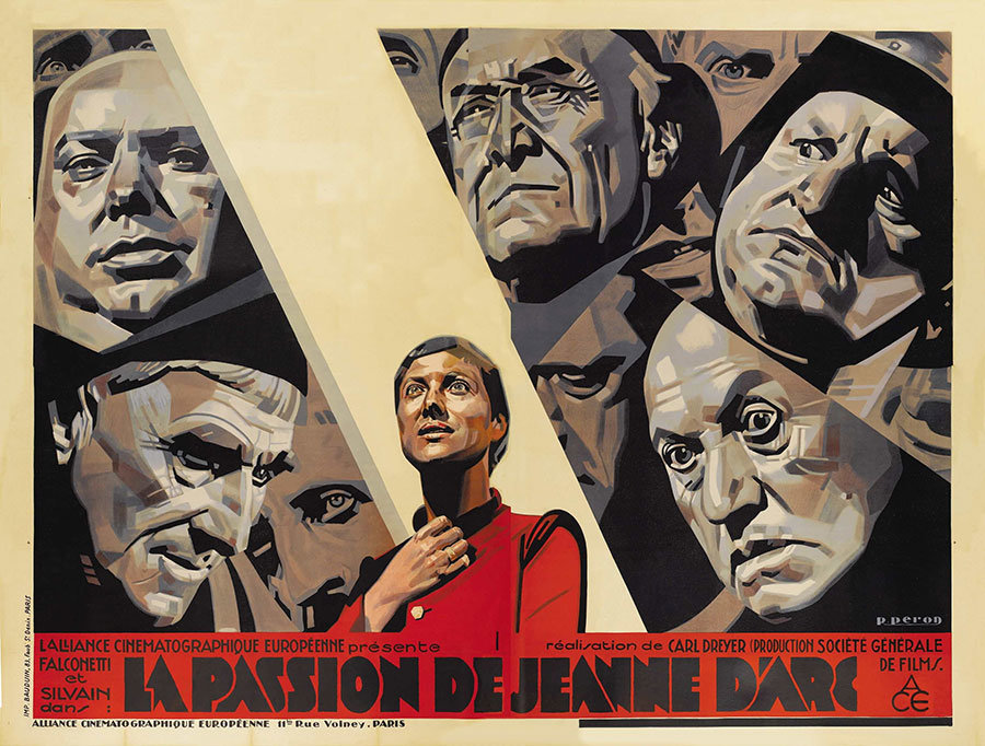 Movie Poster Of The Week The Passion Of Joan Of Arc And The Widescreen Posters Of René Péron On Notebook Mubi