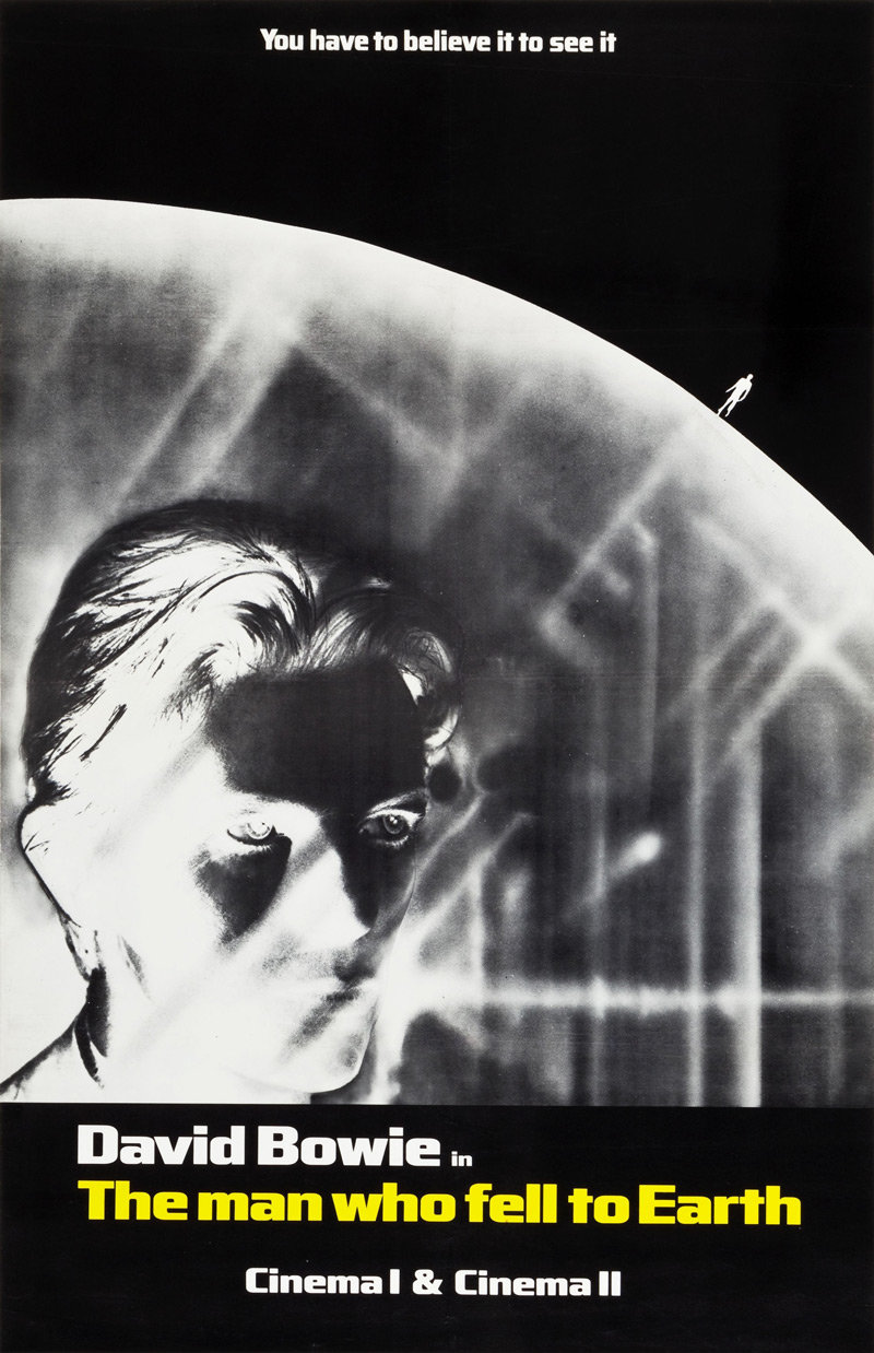 DAVID BOWIE POSTER A3 MOVIE THE MAN WHO FELL TO EARTH STARMAN LIFE ON MARS