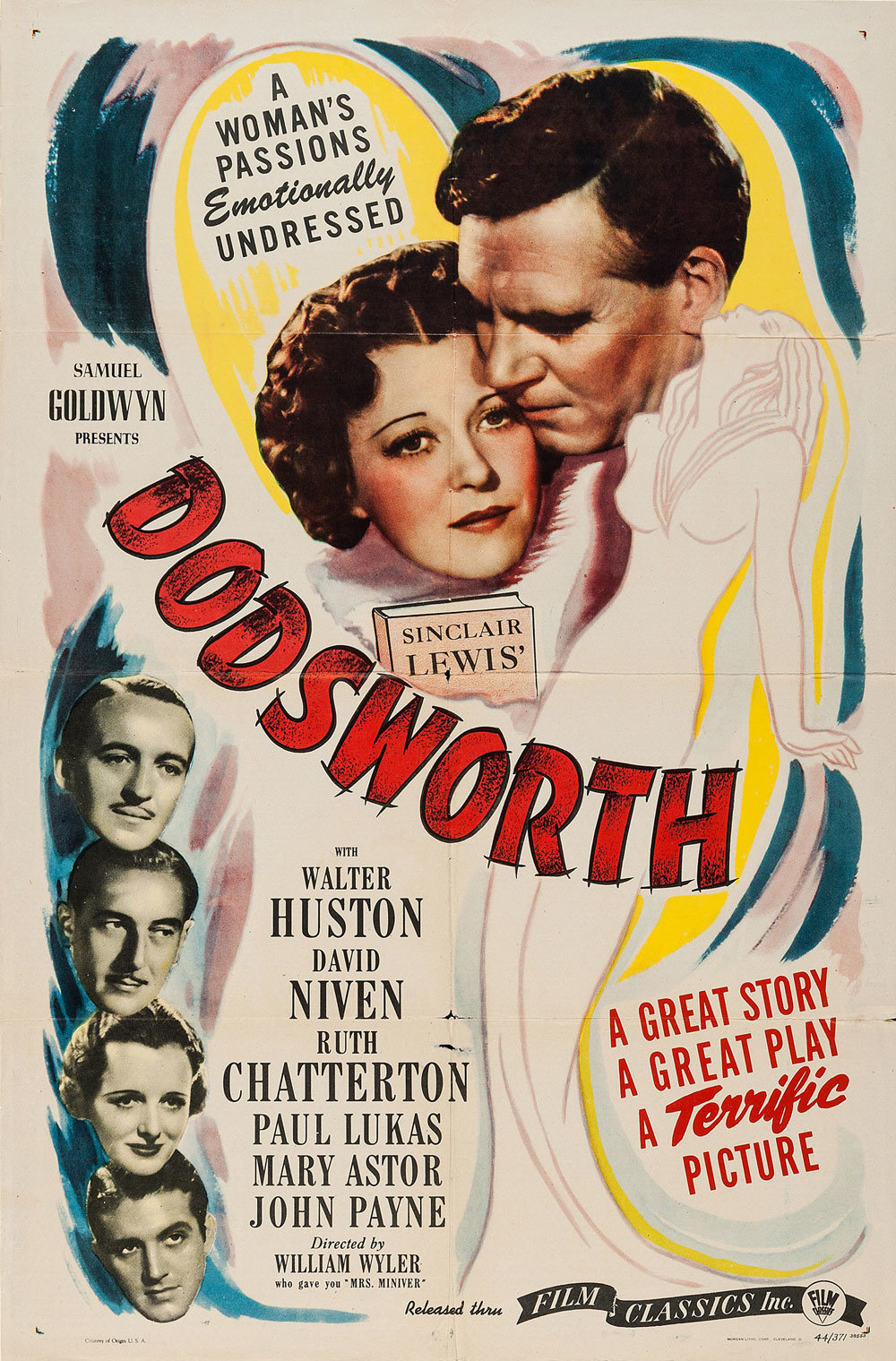 """Movie Poster of the Week: William Wyler's """"Dodsworth"""" on Notebook ..."""