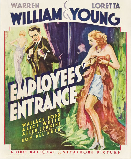 Employees Entrance poster