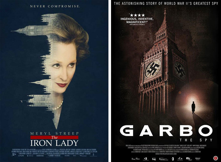 The Iron Lady and Garbo the Spy posters