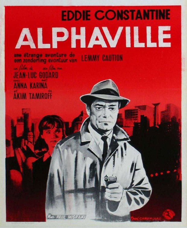 """Movie Poster of the Week: Jean-Luc Godard's """"Alphaville"""" and the films of  Lemmy Caution on Notebook 