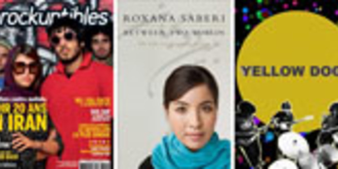 image of the Podcast. Bahman Ghobadi, Roxana Saberi and Obash of The Yellow Dogs