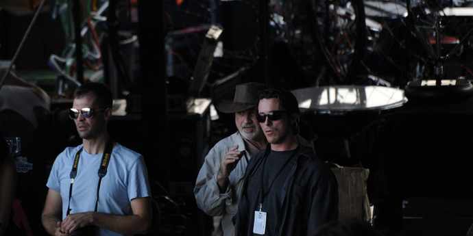 image of the Daily Briefing. What are Terrence Malick and Christian Bale up to?