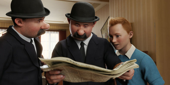 "image of the AFI FEST 2011. Spielberg + Jackson's ""Tintin"""