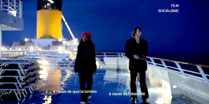 """image of the Daily Briefing. """"Film socialisme"""" Cruise Ship Runs Aground"""