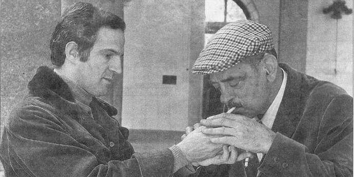 image of the Truffaut Lighting a Cigarette for Buñuel