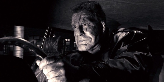 image of the Mickey Rourke's Face