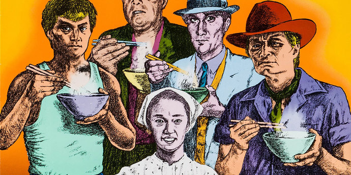 """image of the Movie Poster of the Week: Juzo Itami's """"Tampopo"""""""