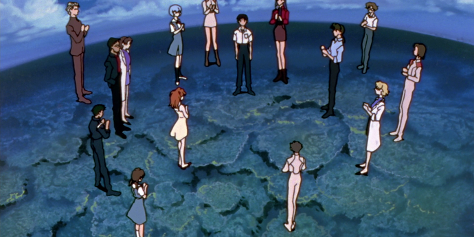 """image of the """"Neon Genesis Evangelion,"""" Episodes 25 and 26: Congratulations!"""