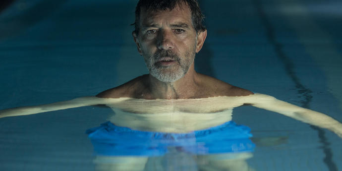 """image of the Review: The First Desire—Pedro Almodóvar's """"Pain and Glory"""""""