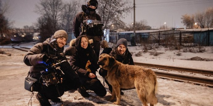"""image of the Elsa Kremser & Levin Peter Introduce Their Film """"Space Dogs"""""""