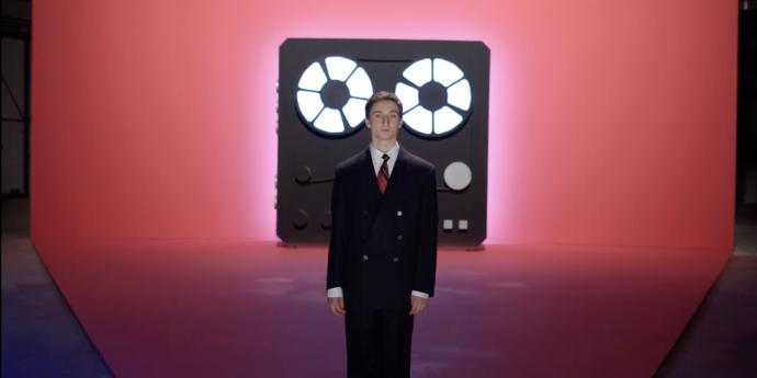 "image of the Radu Jude Introduces His Film ""Uppercase Print"""